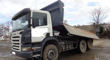 Rental truck Scania Querrieu bi-benne