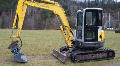 New Holland Querrieu mini excavator rental