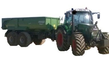 Tractor-John Deere Querrieu dumpster rental